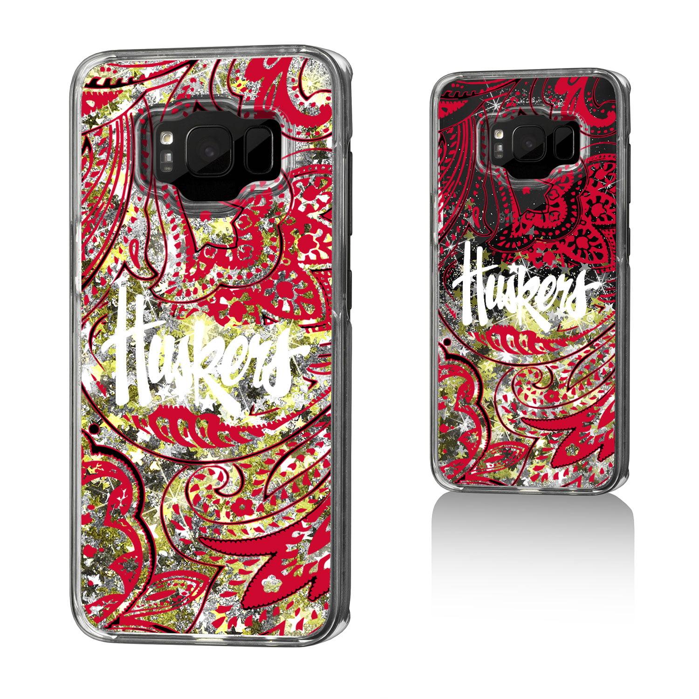 NU Nebraska Huskers Paisley Glitter Case for Galaxy S8