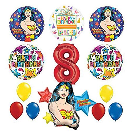Wonder Woman Pinata (Mayflower Products Wonder Woman 8th Birthday Party Supplies and Balloon)