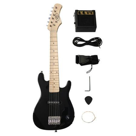30 in. Electric Guitar Set - Black (Electric Guitar Set)
