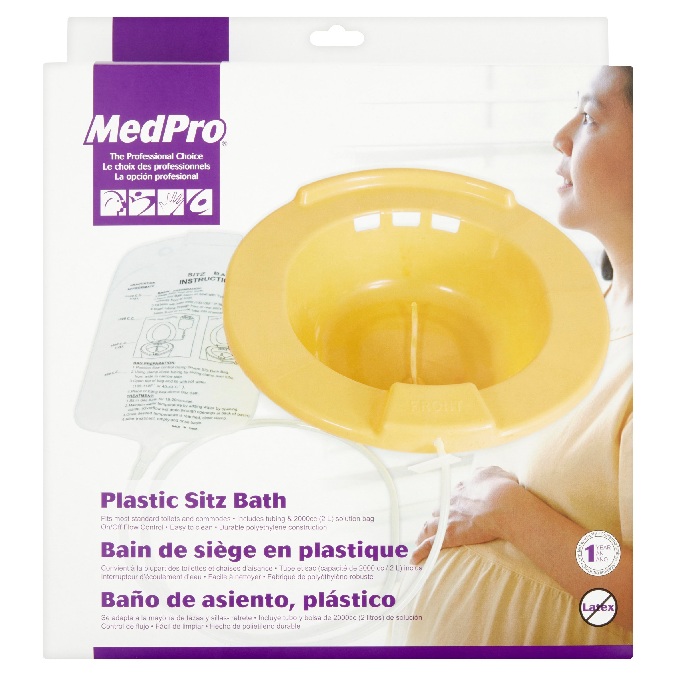 medpro plastic sitz bath - walmart, Skeleton