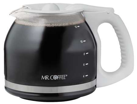 Mr. Coffee 12 Cup Replacement Coffee Decanter, White