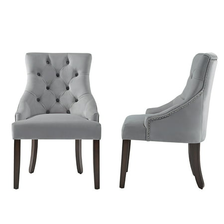 Chelsea Lane Curved Back Velvet Tufted Dining Chair, Set of 2, Multiple (Chelsea Chair Set)