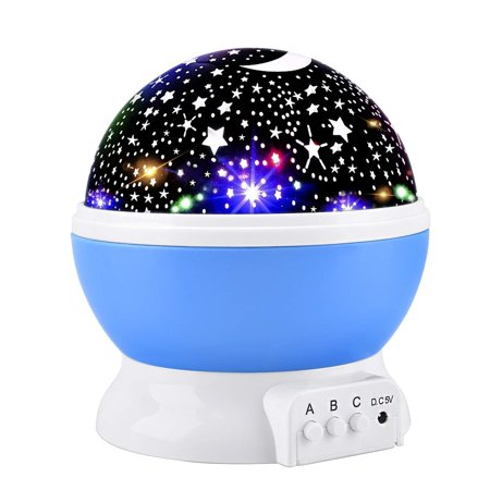 Night Light Projector, 360 Degree Rotation Kids Projector Night Light with 8 Multicolor, Starry Light Best Presents for Kids Nursery Bedroom -