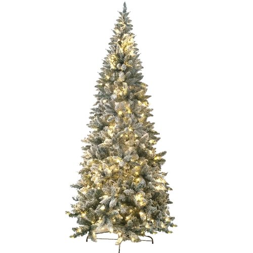 Jolly Workshop Flocked Magnolia 8' Fir Artificial Christmas Tree with 450 Lights