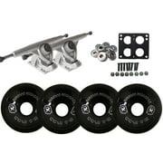 Randal 180 Silver LONGBOARD TRUCKS BIGFOOT 70mm 78a STALKER Wheels , + BEARINGS