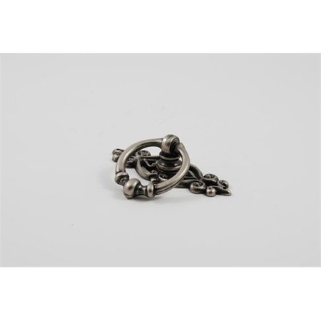 Pull Backplate - Residential Essentials 10247AP Cabinet Ring Pull with Backplate, Aged Pewter