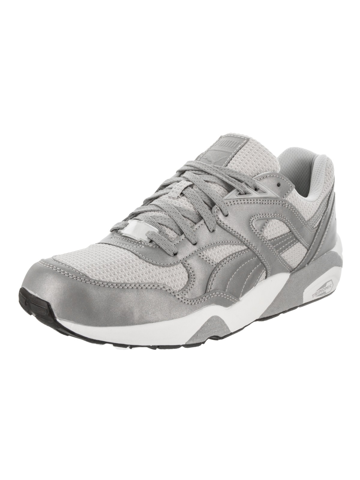 Puma R698 Reflective Men  Round Toe Synthetic Silver Sneakers