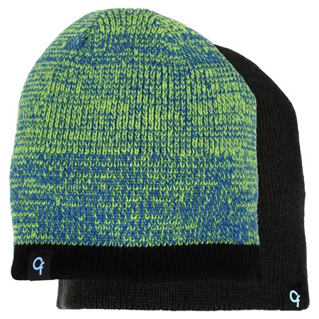 ed34926054118a Boy's Cold Front Reversible Marled Winter Beanie - Walmart.com