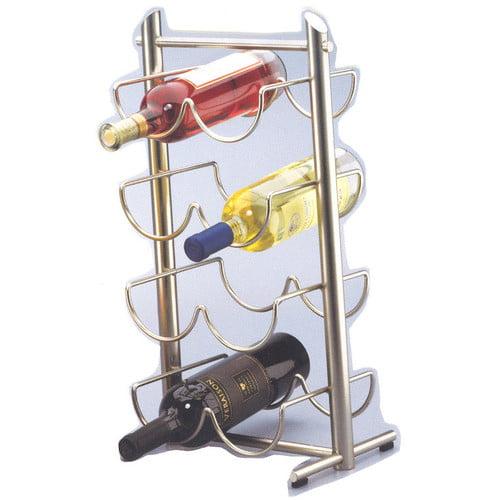 Creative Home Angles Metalware 8 Bottle Tabletop Wine Rack (Set of 2)