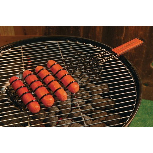 Charcoal Companion Non-Stick Adjustable Sausage Grilling Basket
