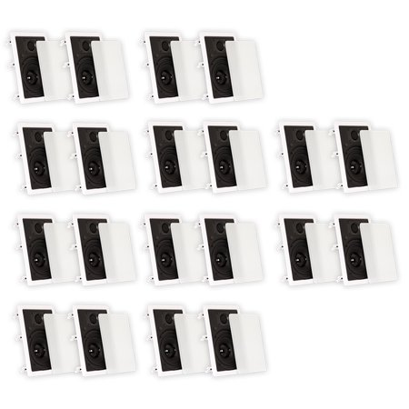 """Theater Solutions TS65W In Wall 6.5"""" Speakers Surround Sound Home Theater 10 Pair Pack by"""