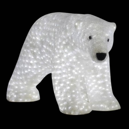 43 outdoor pre lit commercial grade female polar bear christmas display decoration