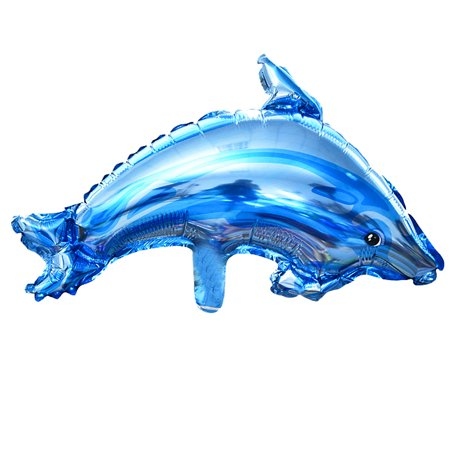 Unique Bargains Decor Foil Dolphin Shape Inflation Helium Balloon Royal Blue 14.6 Inch](Dolphin Balloon)
