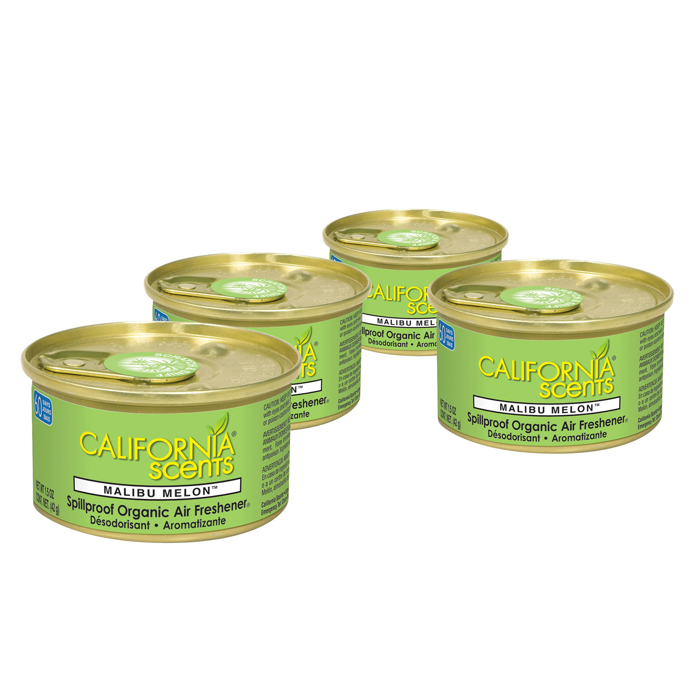 California Scents Air Freshener 4-Pack (Malibu Melon)