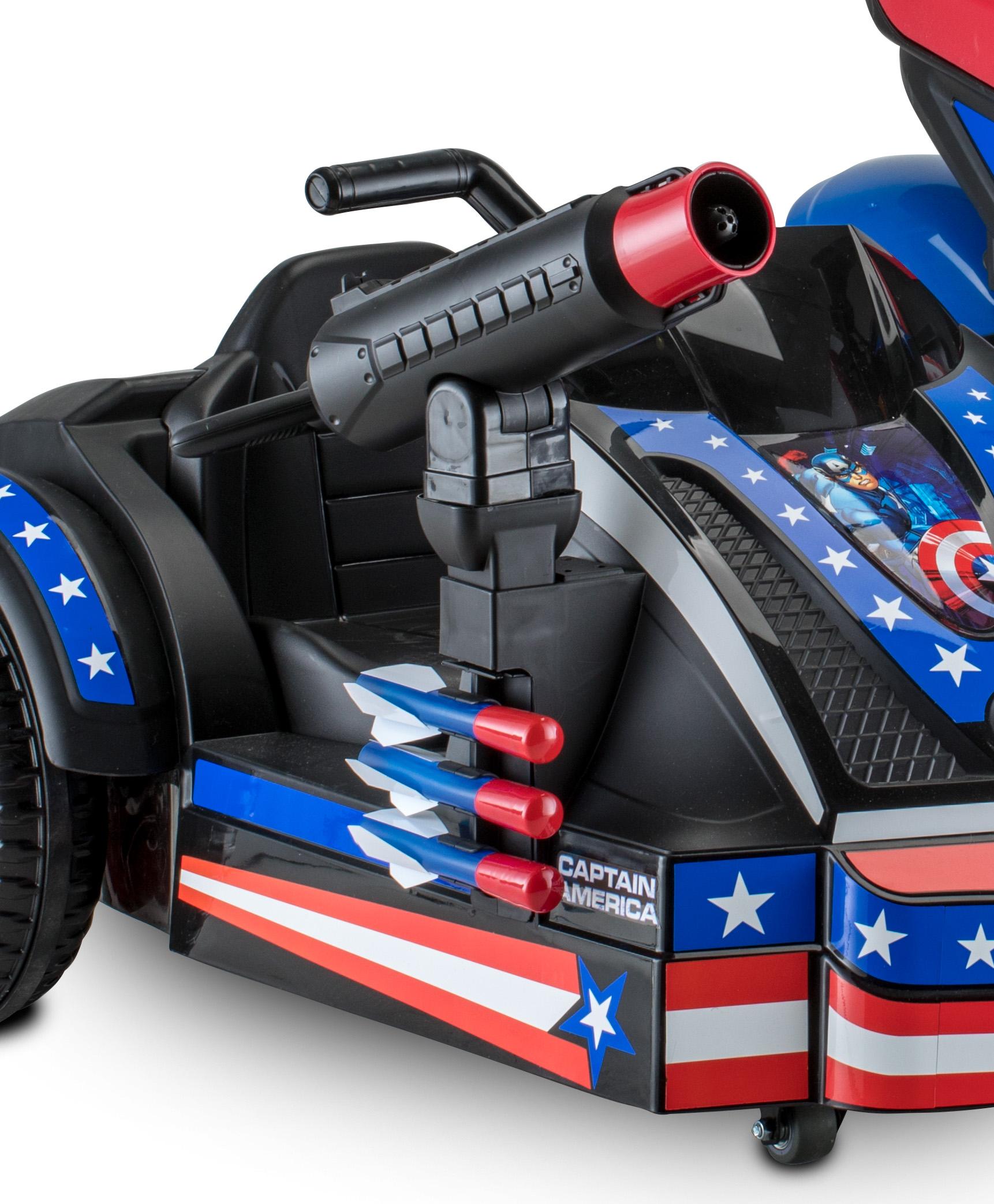 07df21a6c Kid Trax 12-Volt Captain America Motorcycle Ride-On - Walmart.com
