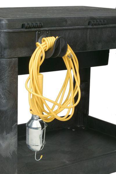 L,PK4 RUBBERMAID FG459100BLA Utility Cart Hooks,Black,3 In