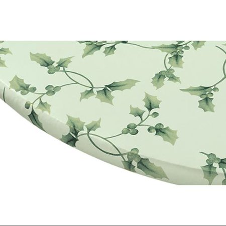 Miles Kimball Hollyberries Elasticized Vinyl Table Cover