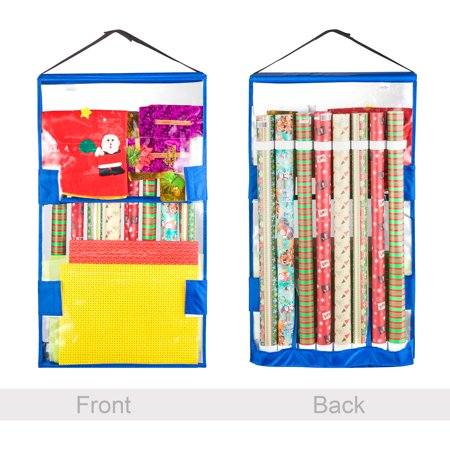 Gift Bag Organizer (Tiny Tim Totes | Double Sided | Hanging Gift Wrap and Bag)