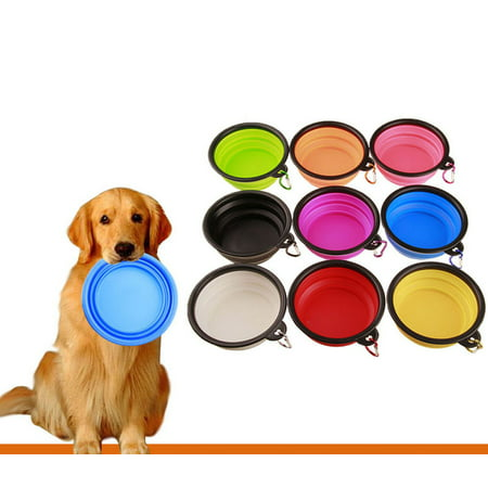 Silicone Folding Bowl Pet Dog Food Feeding Water Travel Portable Bowl