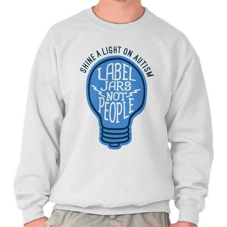 People Adult Sweatshirt - Brisco Brands Autism Label Jars Not People Adult Crewneck Sweatshirt