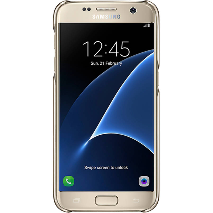 Samsung Galaxy S7 Protective Cover, Clear/Gold