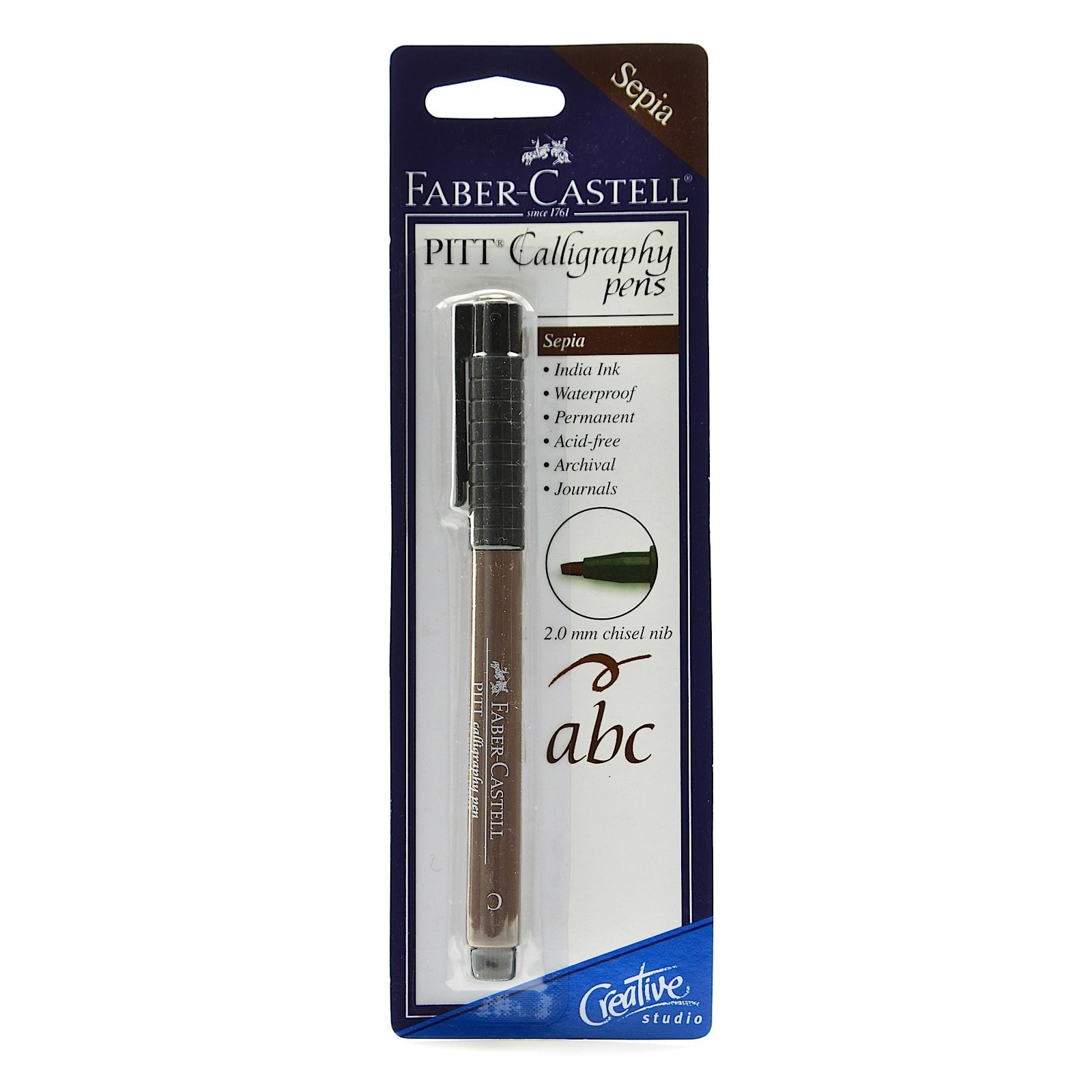 Faber-Castell Pitt Chisel Sepia Nib Calligraphy Pens (Pack of 10)