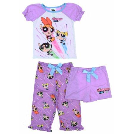 Big Powerpuff Girl (Komar Kids Character Girls 3-Piece Pajama Set ( Powerpuff Girls,)