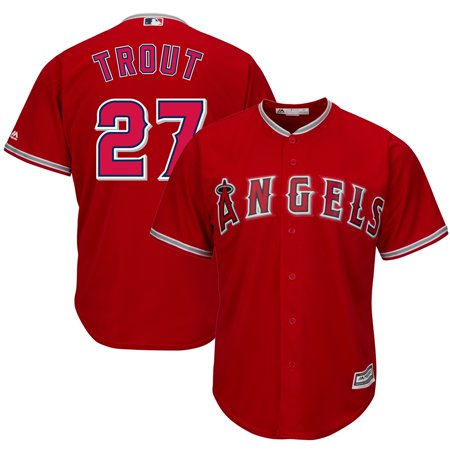 Mike Trout Los Angeles Angels Majestic Cool Base Player Jersey - Scarlet