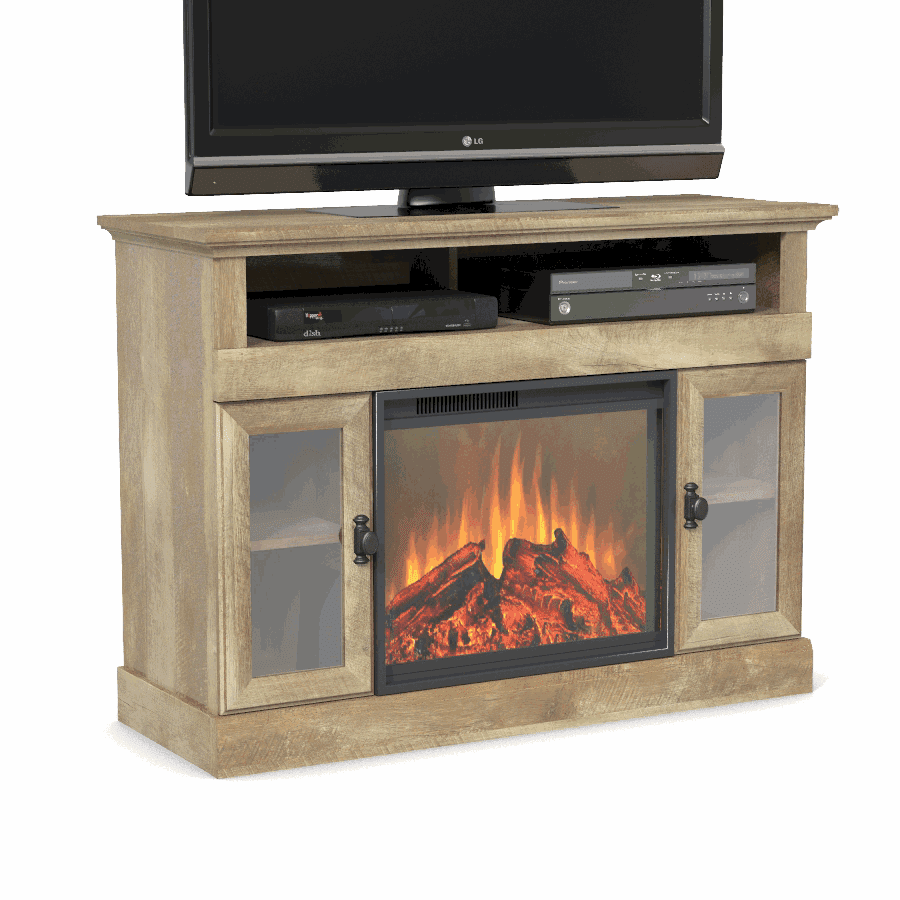 Better Homes & Gardens Crossmill Fireplace Media Console for TVs up to 10