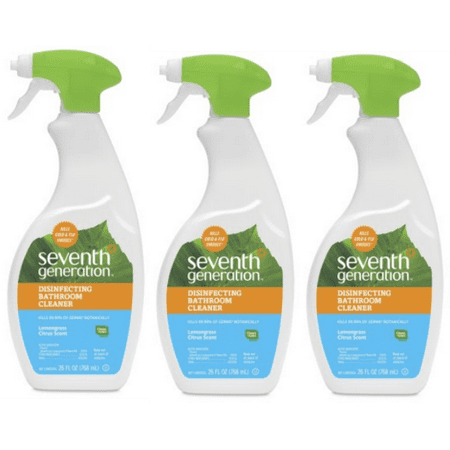 (3 Pack) Seventh Generation Disinfecting Bathroom Cleaner Lemongrass Citrus 26