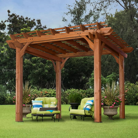 Backyard Discovery 10' x 10' Cedar Pergola, Brown