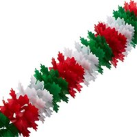 Pkgd Pageant Garland (red, white, green) Party Accessory (1 count) (1/Pkg)