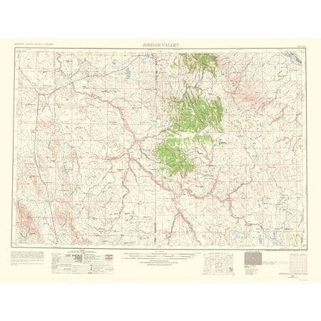 Topographical Map - Jordan Valley Idaho, Oregon Quad - USGS 1963 ...