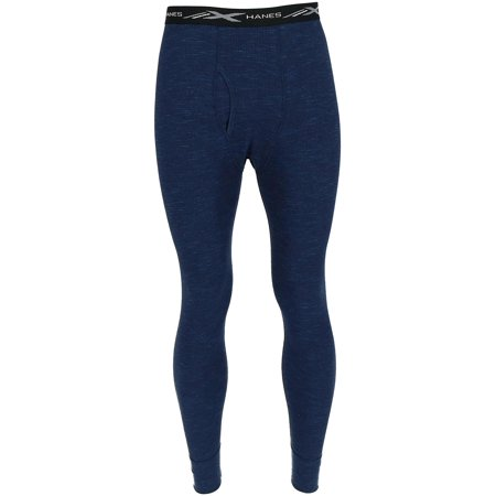Men's Waffle Knit Space Dyed Thermal Bottoms,  Navy