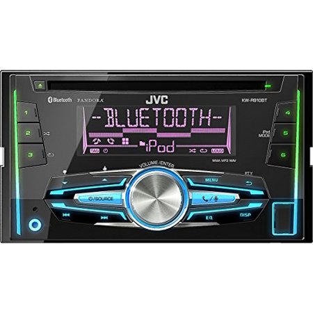 JVC KW-R910BT Double DIN In-Dash Car Stereo with MP3 USB Blueooth Aux by