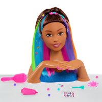 Barbie Rainbow Sparkle Deluxe Styling Head ? Brown Hair