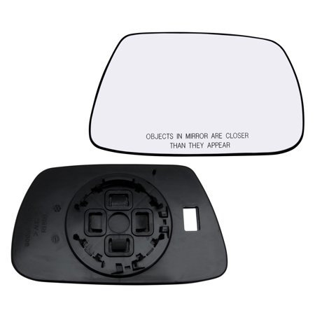New Replacement Passenger Side Mirror Power Glass With Backing For Motor Mount Fits 2005-2010 Jeep Grand Cherokee