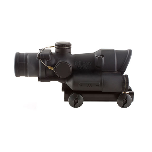 Click here to buy Trijicon ACOG 4x32 LED Illuminated Riflescope w Red LED .223 Chevron Reticl by Trijicon.