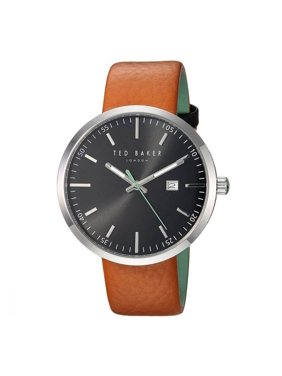 Ted Baker Men's Brown Leather Band With Black Analog Dial Watch 10031561
