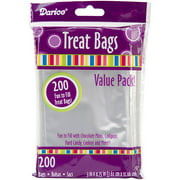 3'' x 4.75'' Clear Treat Bags, 200-Pack