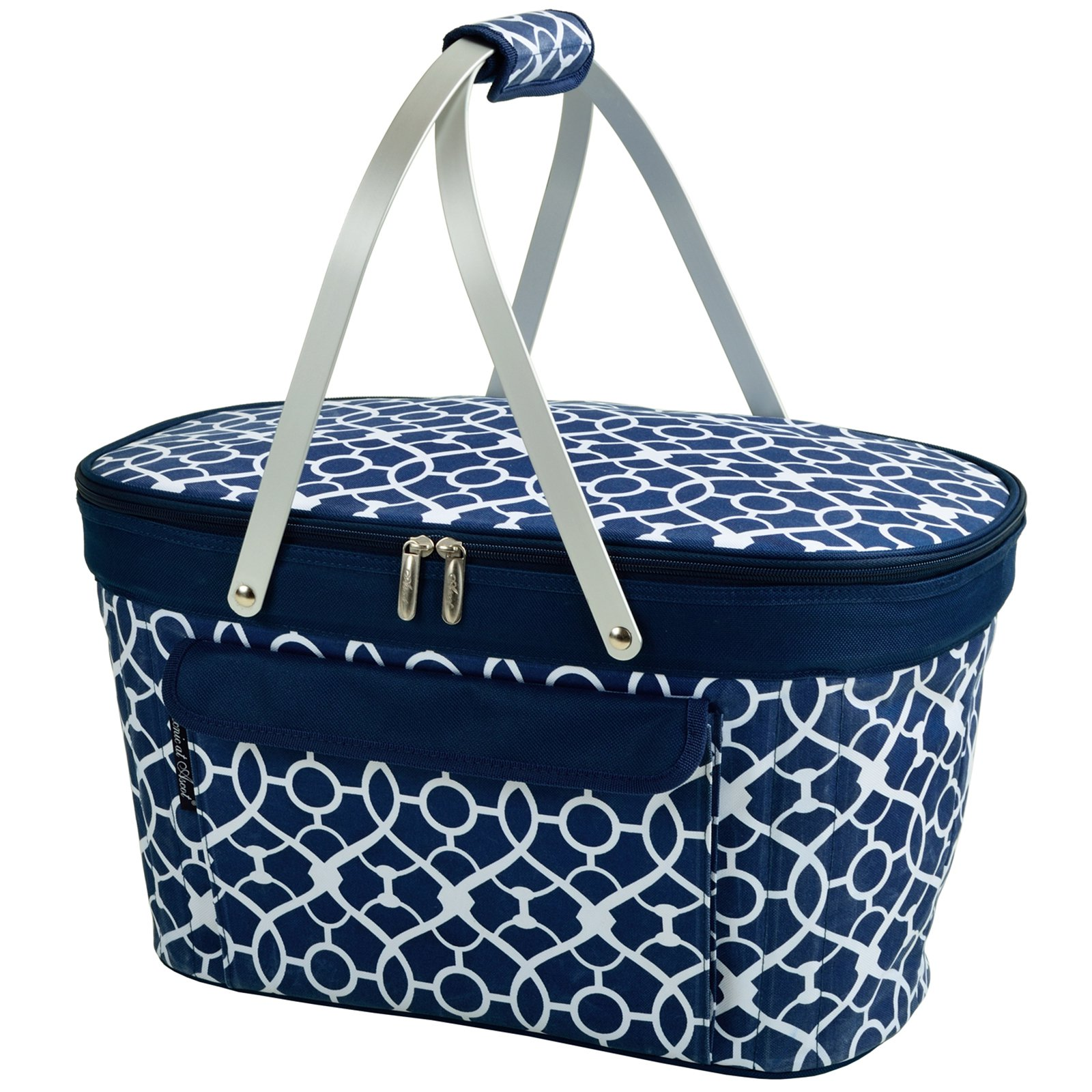 Picnic At Ascot Collapsible Insulated Picnic Basket