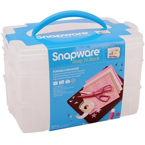 Snapware Snap 'n Stack Medium 3-layered Craft Organizer