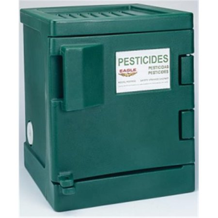 Eagle Safety Storage Cabinets - Eagle Pest P04 Pesticide Safety Storage Cabinets - Green Poly Cabinet One Door-One Shelf