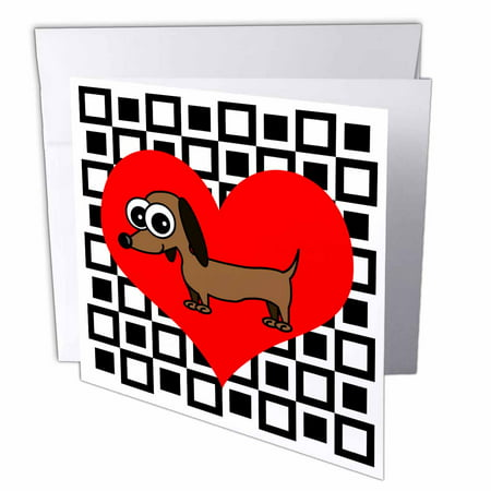 3dRose I Love Dogs – Dachshund, Greeting Cards, 6 x 6 inches, set of 12](Dachshund Halloween Cards)
