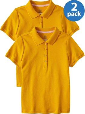 ee596087d Product Image Girls School Uniform Short Sleeve Interlock Polo, 2-Pack  Value Bundle