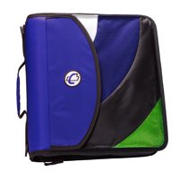 Case it dual d ring zip backpack binder, 2 sets of 2 inch rings, blk