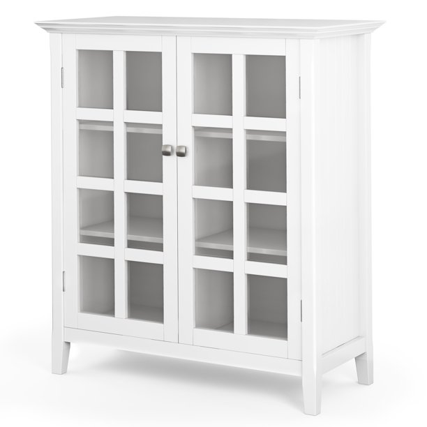 Brooklyn Max Brunswick Solid Wood 39 Inch Wide Rustic Medium Storage Cabinet In White Walmart Com Walmart Com
