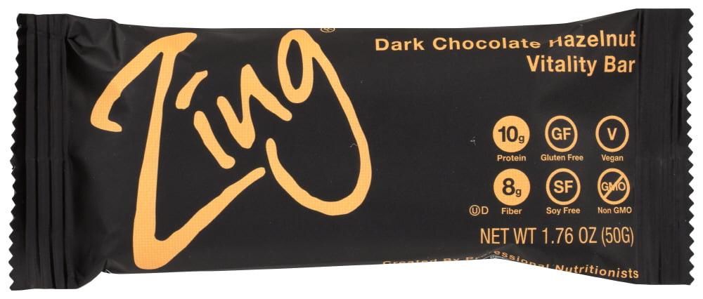 (12 Pack) Zing Bars - Nutrition Bar - Dark Chocolate Hazelnut, 1.76 OZ