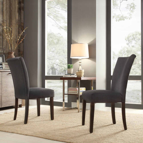 ayana fabric parson chair set of 2 multiple colors