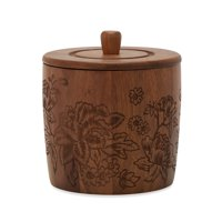 Tropical Toile Engraved Wood Ice Bucket by Drew Barrymore Flower Home